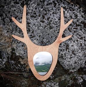 Bilde av Speil med hornmotiv